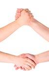 Ανταγωνισμός και σύνθεση χεριών συμβιβασμού Στοκ εικόνα με δικαίωμα ελεύθερης χρήσης
