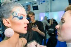 Ανταγωνισμός καλλιτεχνών Makeup και τρίχας Στοκ φωτογραφίες με δικαίωμα ελεύθερης χρήσης