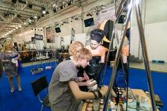 Ανταγωνισμός καλλιτεχνών Makeup και τρίχας Στοκ φωτογραφία με δικαίωμα ελεύθερης χρήσης