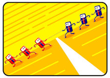 ανταγωνισμός κινούμενων &sigma απεικόνιση αποθεμάτων