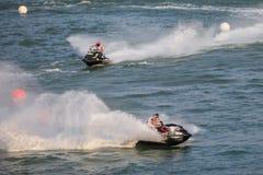 Ανταγωνισμός μοτοσικλετών νερού Στοκ Εικόνες