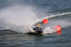 Ανταγωνισμός μοτοσικλετών νερού Στοκ Φωτογραφίες