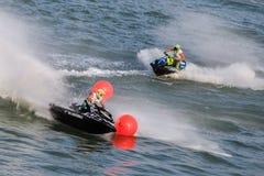 Ανταγωνισμός μοτοσικλετών νερού Στοκ Φωτογραφία