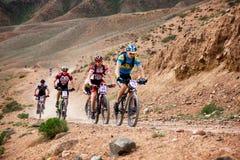 Ανταγωνισμός ποδηλάτων βουνών περιπέτειας άνοιξη Στοκ φωτογραφίες με δικαίωμα ελεύθερης χρήσης