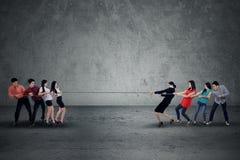Ανταγωνισμός στην επιχείρηση Στοκ Φωτογραφία
