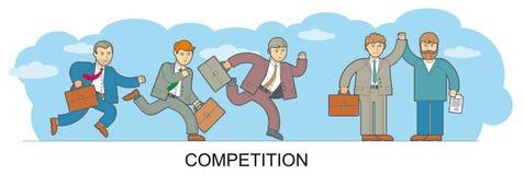 Ανταγωνισμός σχεδίου γραμμών απεικόνιση αποθεμάτων