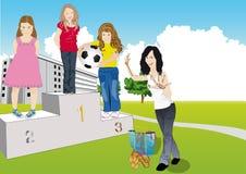 Ανταγωνισμός το καλό κορίτσι Στοκ εικόνα με δικαίωμα ελεύθερης χρήσης