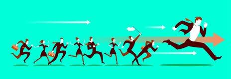 Ανταγωνισμός τρεξίματος Πηγαίνετε! διανυσματική απεικόνιση