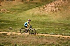Ανταγωνισμός andventure ποδηλάτων βουνών Στοκ φωτογραφίες με δικαίωμα ελεύθερης χρήσης