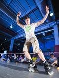 Ανταγωνισμός Rollerblading Στοκ εικόνες με δικαίωμα ελεύθερης χρήσης
