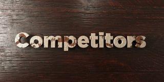 Ανταγωνιστές - βρώμικος ξύλινος τίτλος στο σφένδαμνο - τρισδιάστατο δικαίωμα ελεύθερη εικόνα αποθεμάτων διανυσματική απεικόνιση