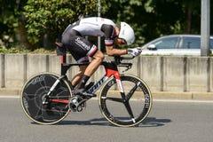 Ανταγωνιστής ομάδων Sunweb με υψηλή ταχύτητα Giro 2017, Μιλάνο στοκ εικόνα με δικαίωμα ελεύθερης χρήσης