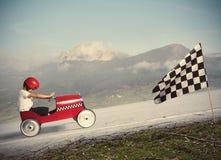 Ανταγωνιστείτε με το αυτοκίνητο παιδιών στοκ φωτογραφία με δικαίωμα ελεύθερης χρήσης