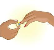 Ανταλλαγή δαχτυλιδιών Στοκ Φωτογραφία