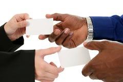 ανταλλαγή επαγγελματικών καρτών Στοκ Εικόνες