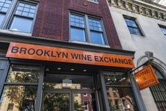 Ανταλλαγή κρασιού του Μπρούκλιν στην πόλη της Νέας Υόρκης, ΗΠΑ στοκ φωτογραφία με δικαίωμα ελεύθερης χρήσης