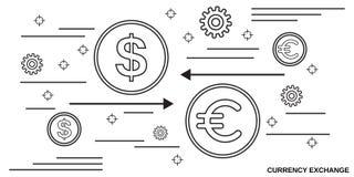 Ανταλλαγή νομίσματος, μεταφορά χρημάτων, διανυσματική έννοια χρηματοπιστωτικής συναλλαγής ελεύθερη απεικόνιση δικαιώματος