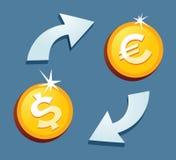 ανταλλαγή νομίσματος απεικόνιση αποθεμάτων