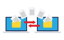 Ανταλλαγή πληροφοριών μεταξύ των υπολογιστών ελεύθερη απεικόνιση δικαιώματος