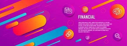 Ανταλλαγή χρημάτων, ATM και ευρο- εικονίδια χρημάτων καθορισμένες Bitcoin ATM, λογιστικά έκθεση και σημάδια Analytics r ελεύθερη απεικόνιση δικαιώματος