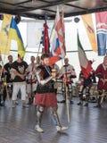 Ανταμείβοντας τον ιππότη - νικητής στους ιππότες φεστιβάλ ` της Ιερουσαλήμ ` στην Ιερουσαλήμ, Ισραήλ στοκ εικόνες
