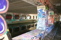 αντανάκλαση γκράφιτι Στοκ εικόνα με δικαίωμα ελεύθερης χρήσης