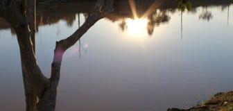 Αντανάκλαση ηλιοβασιλεμάτων Στοκ Εικόνες