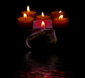 αντανάκλαση κεριών Στοκ Εικόνα