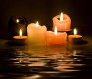 αντανάκλαση κεριών Στοκ Εικόνες
