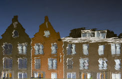 αντανάκλαση σπιτιών Στοκ εικόνες με δικαίωμα ελεύθερης χρήσης