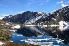 αντανάκλαση της Νορβηγία&sig στοκ φωτογραφία