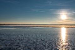 Αντανάκλαση του ήλιου από τον πάγο Στοκ Φωτογραφία