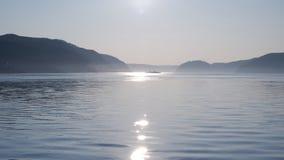 Αντανάκλαση του φωτός στον ποταμό Καναδάς του ST Lawrence στοκ εικόνα