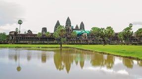 Αντανάκλαση Wat Angkor Στοκ εικόνες με δικαίωμα ελεύθερης χρήσης