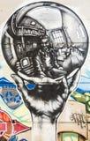 Αντανάκλαση γκράφιτι Στοκ Εικόνες