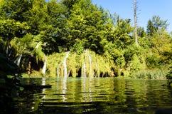 Αντανάκλαση καταρρακτών ` s στο πάρκο λιμνών Plitvicka Στοκ φωτογραφία με δικαίωμα ελεύθερης χρήσης