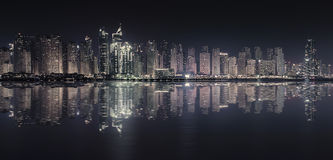 Αντανάκλαση μαρινών του Ντουμπάι στοκ φωτογραφία