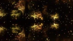 Αντανάκλαση ξύλων στο ήρεμο νερό της λίμνης Όπως ο καθρέφτης στη σκοτεινή νύχτα βραδιού στο χειμερινό χιόνι απεικόνιση αποθεμάτων