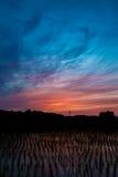 Αντανάκλαση ουρανού λυκόφατος Στοκ Φωτογραφία