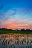 Αντανάκλαση ουρανού λυκόφατος Στοκ Φωτογραφίες