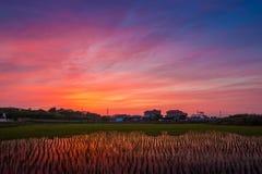Αντανάκλαση ουρανού λυκόφατος Στοκ εικόνες με δικαίωμα ελεύθερης χρήσης