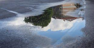 Αντανάκλαση σε μια λακκούβα Στοκ εικόνα με δικαίωμα ελεύθερης χρήσης