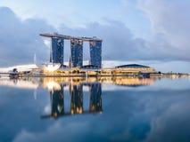 αντανάκλαση Σινγκαπούρη π Στοκ φωτογραφία με δικαίωμα ελεύθερης χρήσης