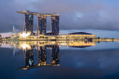 αντανάκλαση Σινγκαπούρη π Στοκ Φωτογραφίες