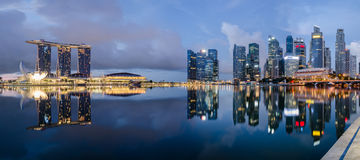 αντανάκλαση Σινγκαπούρη π Στοκ εικόνα με δικαίωμα ελεύθερης χρήσης