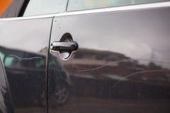 Αντανάκλαση στην πόρτα αυτοκινήτων Στοκ Φωτογραφίες