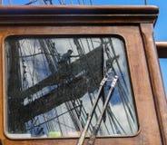 Αντανάκλαση στο παράθυρο sailboat, που λειτουργεί υψηλά Στοκ φωτογραφία με δικαίωμα ελεύθερης χρήσης