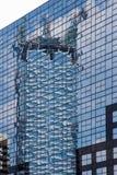 Αντανάκλαση σύγχρονο γυαλιού Στοκ Φωτογραφία