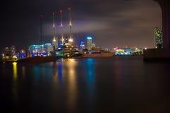 Αντανάκλαση Boatyard ` s κάτω από τα νερά για το νησί Watson Στοκ εικόνες με δικαίωμα ελεύθερης χρήσης