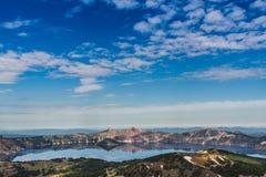 Αντανακλάσεις λιμνών κρατήρων από το υποστήριγμα Scott Στοκ εικόνα με δικαίωμα ελεύθερης χρήσης